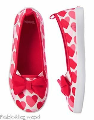 NWT Gymboree Fun at Heart Hearts Sneakers girls shoes 10,11 Valentine