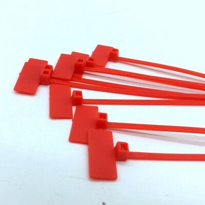 Red Marker Cable Ties Write On Labels - Wire Power Tags Marks Cord Flags(20x9mm)