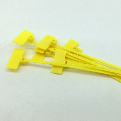 Yellow Marker Cable Ties Write On Labels - Wire Tags Marks Cord Flags(20x9)