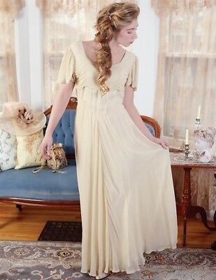 Victorian Trading Co April Cornell Antique Elegance Dress Ivory Gown SM