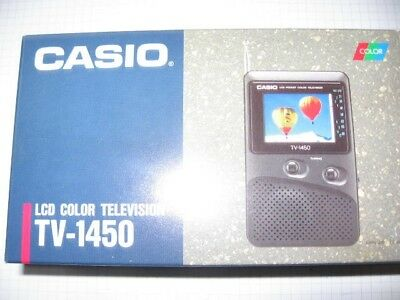 Casio TV 100 LCD Color Television tragbarer Fernseher
