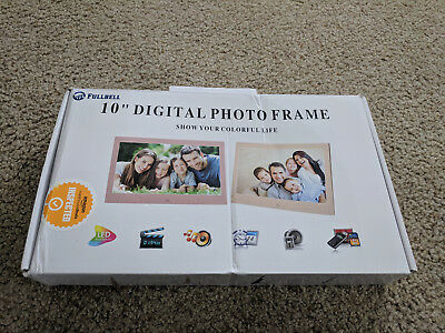 """10"""" Widescreen LCD Digital Photo Frame Pink - In Retail Box - VG"""