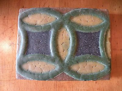 Grueby Signed Four Color Arts and Crafts Tile