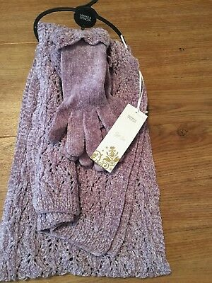 M&S scarf & gloves brand new with tags