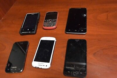 Cell Phone Lot Used For Parts Or Repair Free Shipping