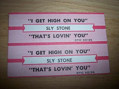 "2 Sly Stone I Get High On You Jukebox Title Strip CD 7"" 45RPM Records"