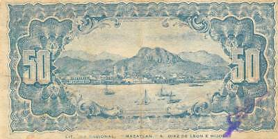 Mexico / Sonora  50  Centavos  3.16.1914  M 3803  Series C   Circulated Banknote