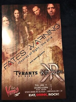 """Fates Warning from Vamp'd Las Vegas show poster. 11""""x17"""""""