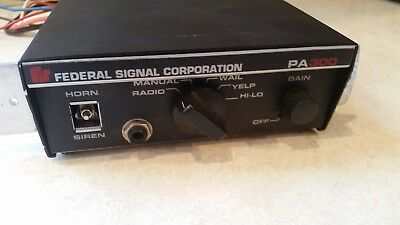 Federal Signal Corporation PA300 Electronic Siren Control Unit - NICE!