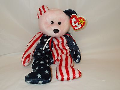 1999 TY  BEANIE BABIES *SPANGLE RED HEAD BEAR * with BOTH TAGS BOYS/GIRLS  3+