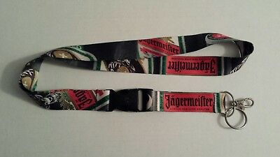 JAGERMEISTER LANYARD w/ Detachable Clip and Keychain Key Ring ID Badge Holder