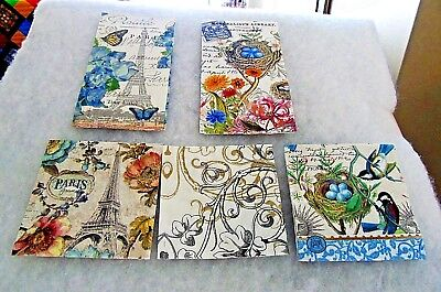 Napkins for  Decoupage and Paper Crafts ( 2 Hostess and 3 Beverage)