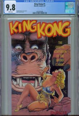 King Kong #1 Cgc 9.8,1991, White Pages, Monster Comics