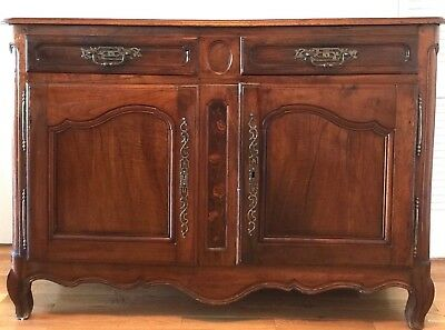 Exceptional French Provincial Walnut Buffet Sideboard from Burgundy - 1760s
