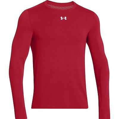 New Men's Under Armour coldgear Infrared Crew Long Sleeve 1261122 Red XL