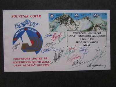 Cover Profsport Sovjet. Lhotse Expedition 1990 Signed By Members