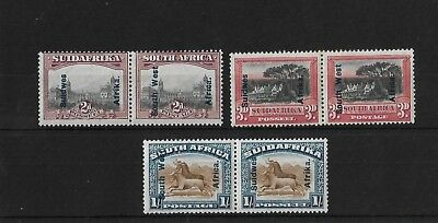 SWA SG49/51, 2d TO 1/- MOUNTED MINT, CAT £27+