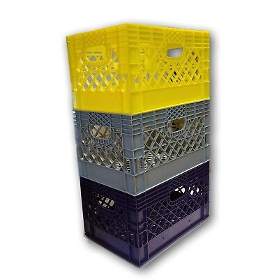 6 X Blue Or Any Other Color You Want Rectangular Milk Crate Rigid Plastic