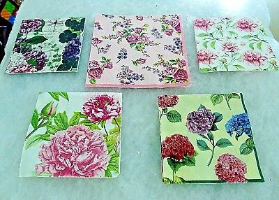 Napkins for  Decoupage and Paper Crafts ( 1 luncheon and 4 Beverage)