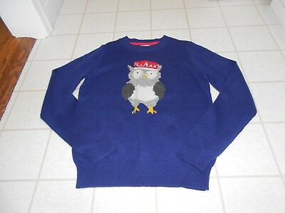 Johnnie B MINI BODEN Girls Cotton Wool Owl Sweater NEW - 13-14 YEARS