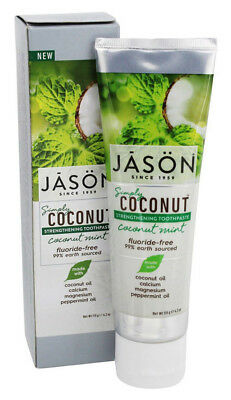 Jason Simply Coconut Mint Fluoride Free STRENGTHENING TOOTHPASTE 119g