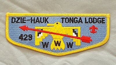 OA Dzie-Hauk-Tonga Lodge 429 Flap Mint Condition Boy Scouts of America