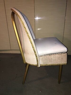 Retro Vintage Art Deco Wicker Effect Vinyl Cocktail Chair