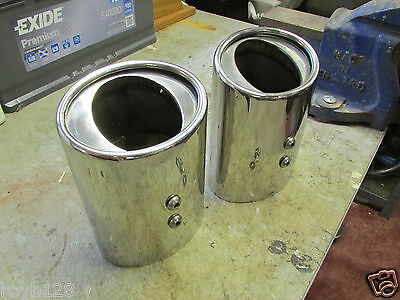 Jaguar S Type Stainless Steel Exhaust Trims (Used)