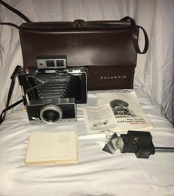 Vintage Polaroid 180 Instant Film Camera With Manual Shutter and Accessories!!