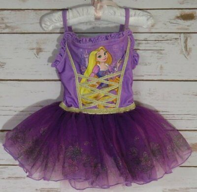 Disney Store Rapunzel Fancy Princess Tutu Leotard Sz 2