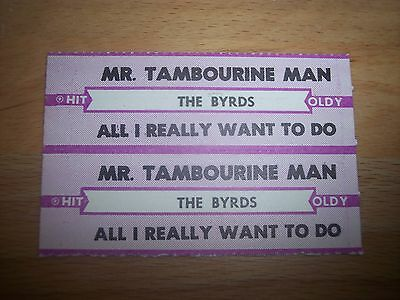 "2 The Byrds Mr. Tambourine Man Jukebox Title Strips CD 7"" 45RPM Records"