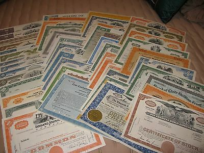 48 Cancelled Stock Certificates    ( Must See For Collector )