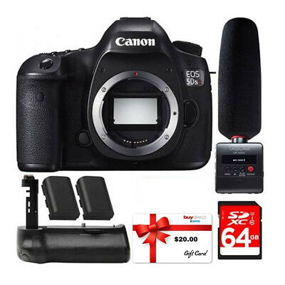 Canon EOS 5DS R 50.6MP DSLR Camera (Body) +Tascam Audio Recorder &Microphone Kit