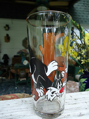 1976 Warner Bros. Pepsi Collector Series Drinking Glass Sylvester And Tweety