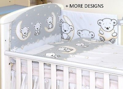 GREY TEDDY MOON-2/3/5 pcs Baby Bedding Set fit Cot or Cot Bed + MORE DESIGNS