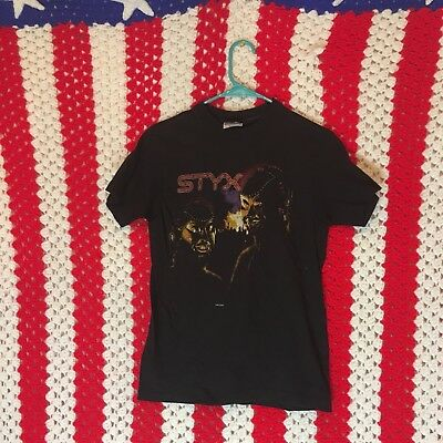 Vintage Styx T-shirt, Kilroy was here Tour 1983, mr.roboto, graffiti, WWII, rock