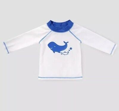 Baby Boys' Whale Rash Guard Cat & Jack White & Blue 3-6 Months
