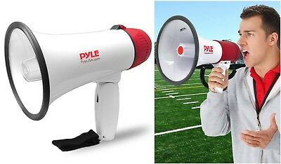 Megaphone Speaker PA Bullhorn Handheld Loud Speaker Siren Horn Adjustable Volume