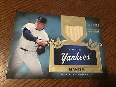 Mickey Mantle 2011 Topps Tier One Game Used Bat Relic /399
