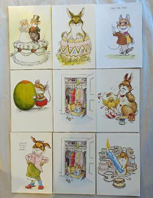 Vintage lot of 9 Wallace Tripp Greeting Cards - Unused & Estate Fresh - NH Lot B