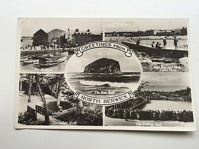 Nice postcard North Berwick multiview posted 1960