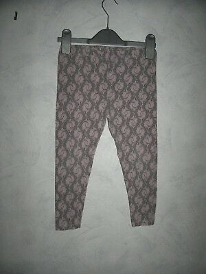 Girls Age 6/7 leggings Grey & pink by Girl 2 Girl Excellent used condition