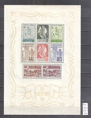 De ##  Portugal  Michel  Block 2   **/mnh