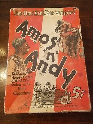 Amos and Andy vintage 1930's Candy Box