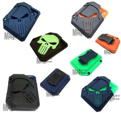 Dark Punisher Wallet 4 Colors Edition Special Kydex With Money Clip Carbon Fiber