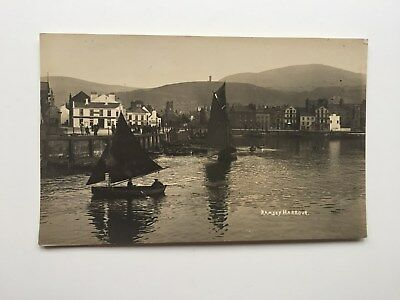 Vintage postcard  Ramsey Harbour Isle of Man with fishing boats