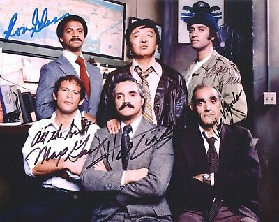 Barney Miller Cast Hand Signed 8X10 By 5 Hal Linden Abe Vigoda Gail Glass Sierra