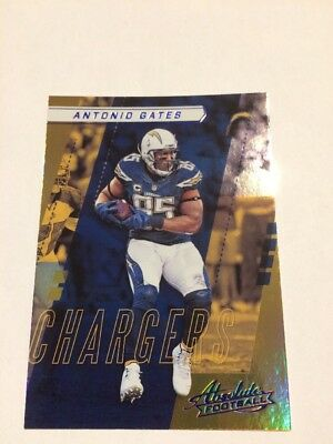 Antonio Gates Chargers #54 Panini Absolute Football 2017 Sammelkarte