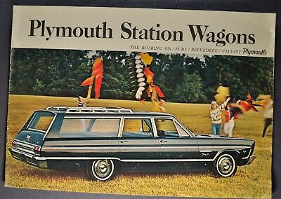 1965 Plymouth Station Wagon Brochure Fury Belvedere Valiant Excellent Original