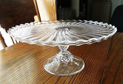 Cristal d'Arques SOLEIL Footed Pedestal Cake Stand FRANCE Durand